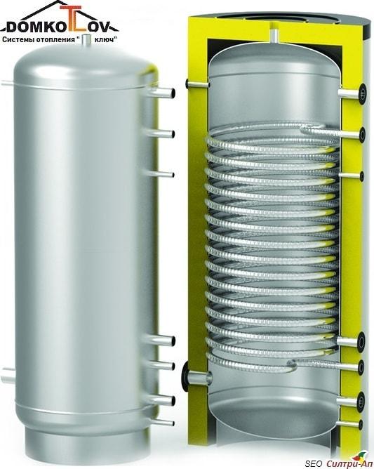 Буферная ёмкость С-Танк (S-TANK) AT 750 литров для твердотопливного котла в системах отопления - теплоаккумулятор - аккумулирующий бак