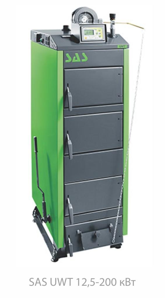 Котел на твердом топливе SAS UWT (с автоматикой) 29 кВт