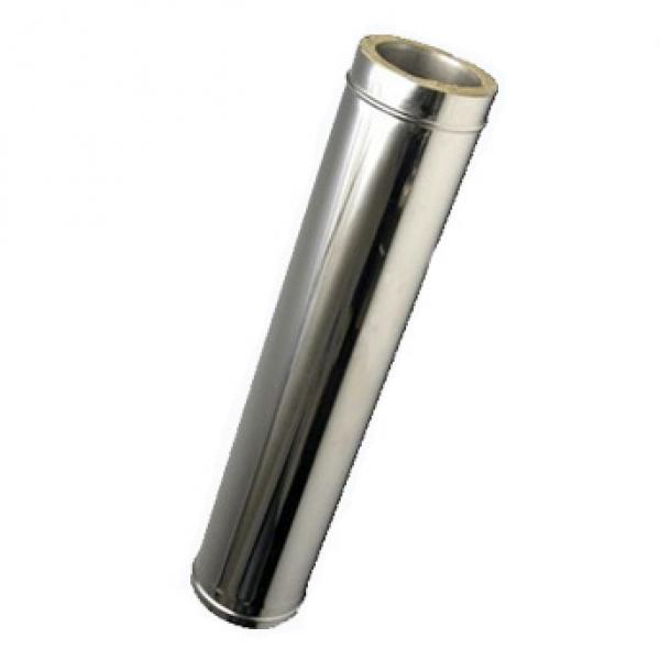 Сэндвич труба нерж/нерж D180/280 L1000 для дымохода