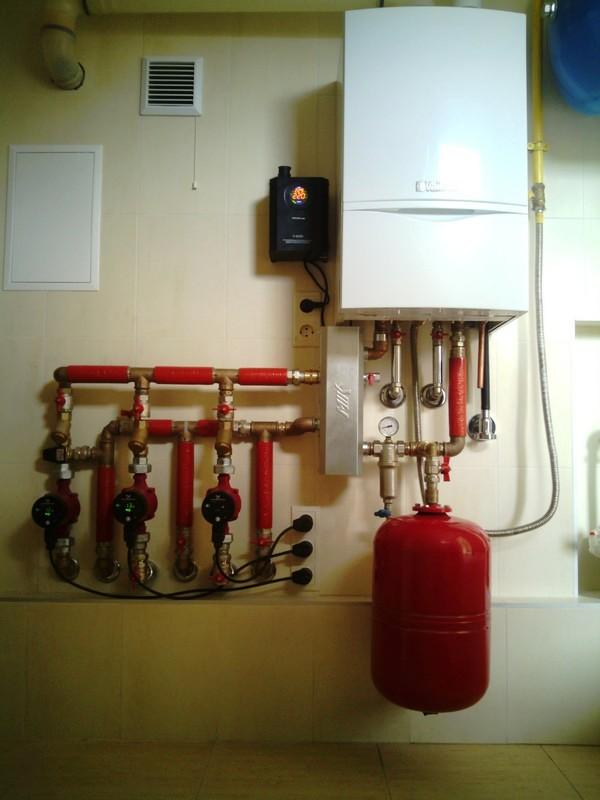 Установка, обвязка газового котла (монтаж)