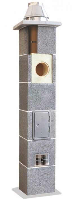 Керамический дымоход с вент каналом S2W (d = 200)