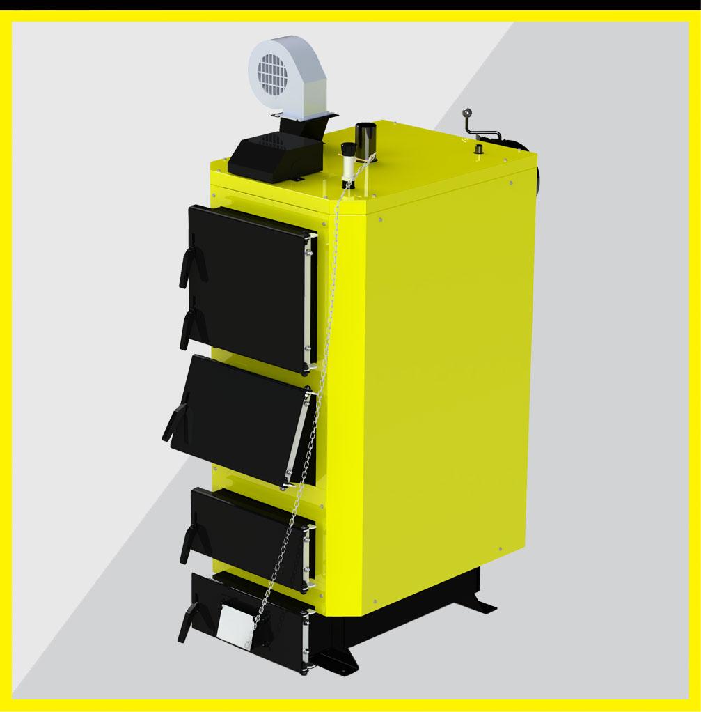 Твердотопливный котел Kronas UNIC-NEW 35 кВт