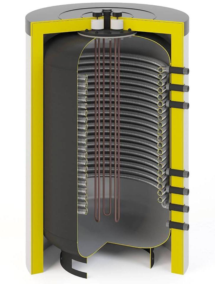 2х контурный электро котёл-бойлер Watermann Fresh 200 с ТЭНом 3кВт