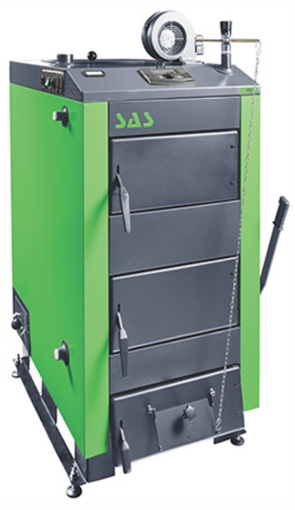Твердотопливный стальной котел SAS MI 29 кВт