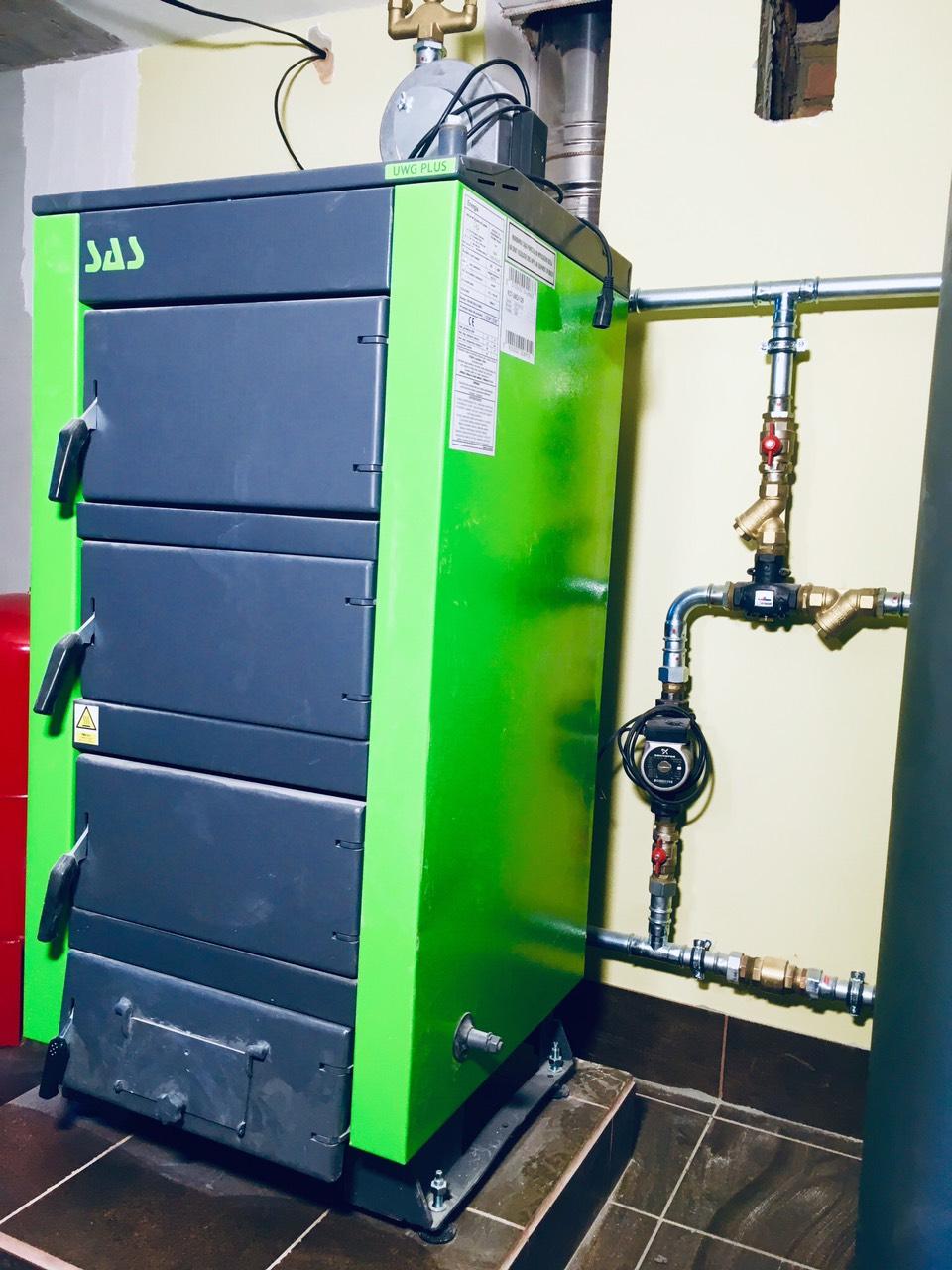 Твердотопливный стальной котел SAS UWT (с автоматикой) 17 кВт