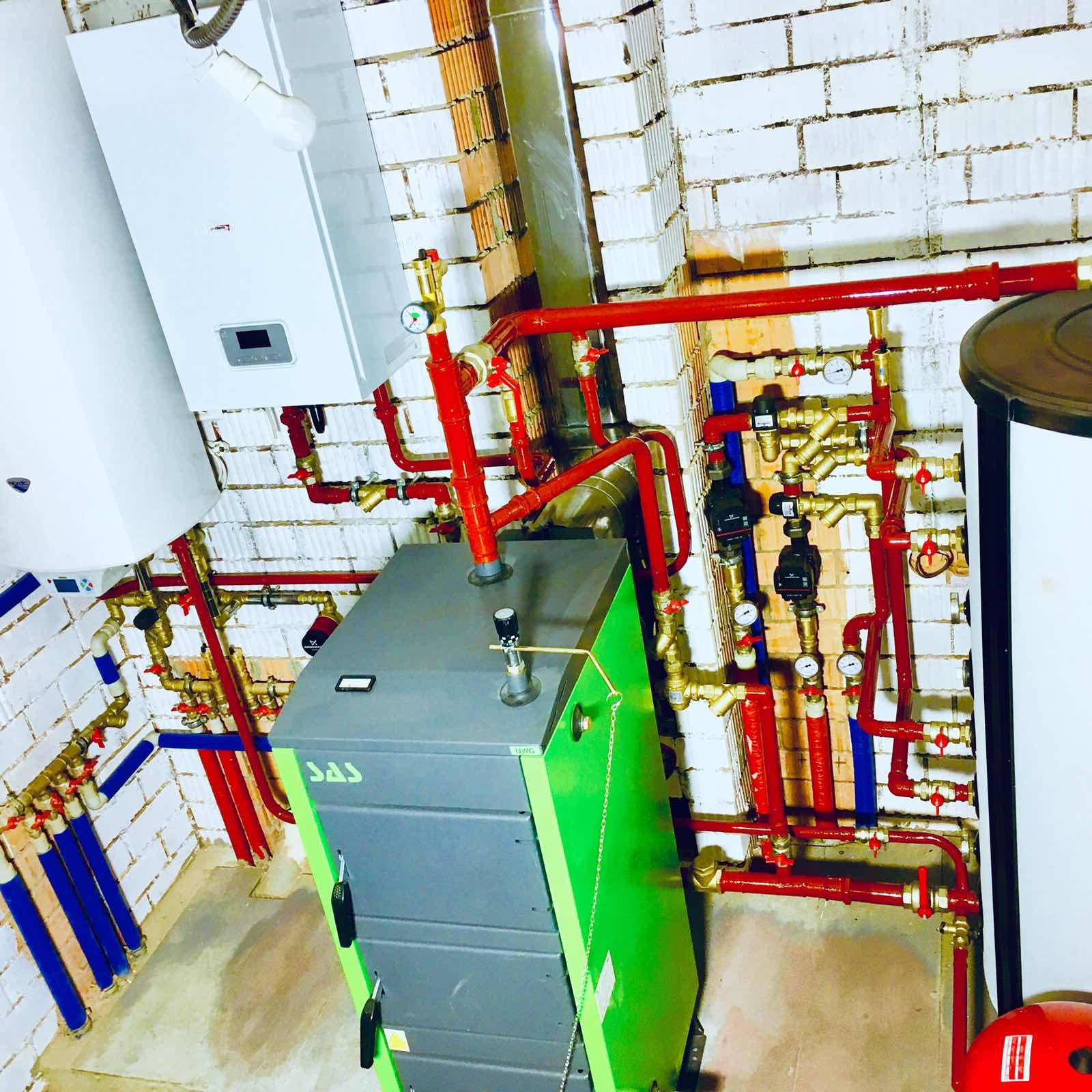 Твердотопливный котел SAS UWG 14 кВт