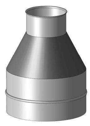 Насадка верхняя коническая D180/280 нержавейка/оцинковка сэндвич дымохода
