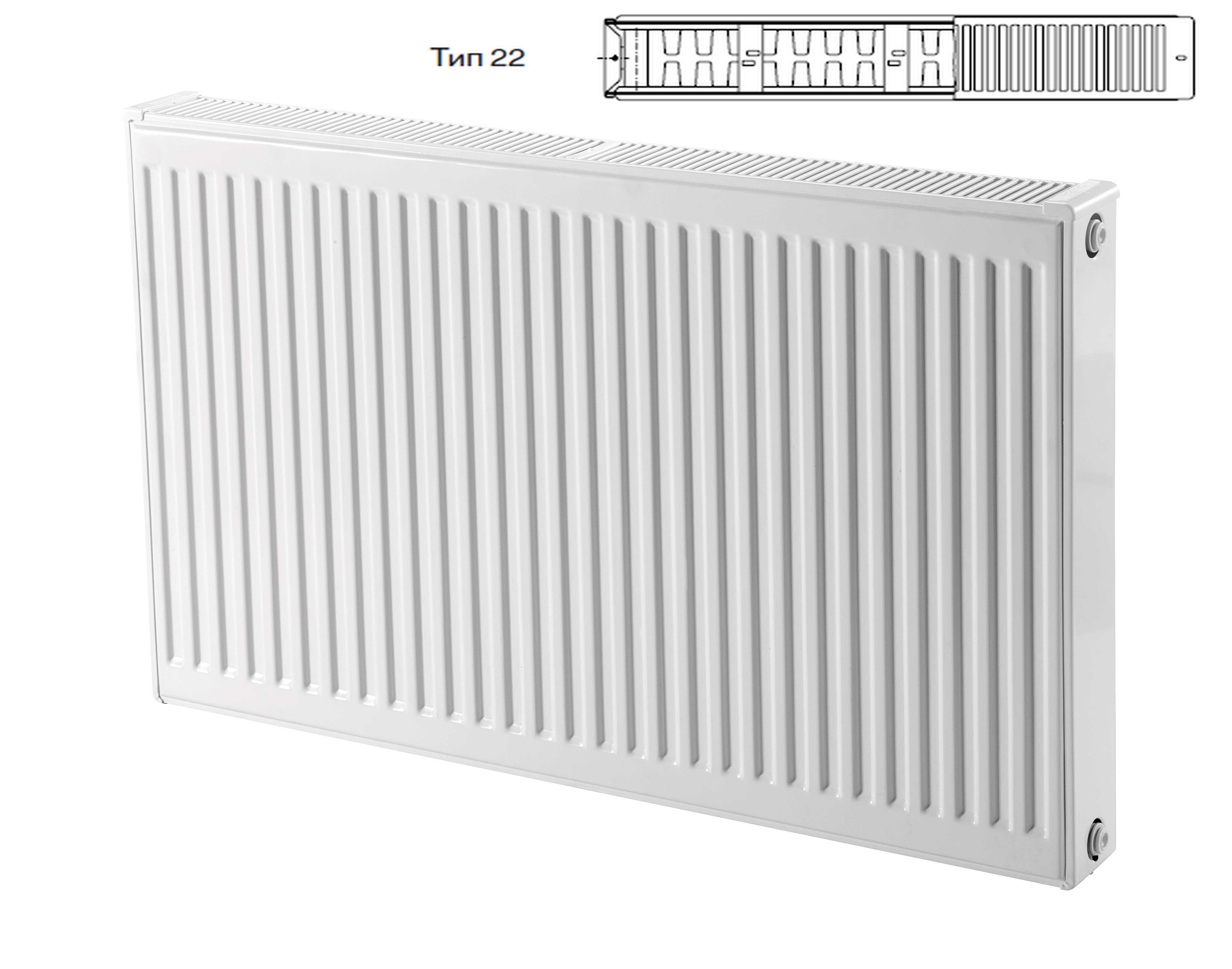 Стальные радиаторы Buderus тип 22-300 с боковым подключением