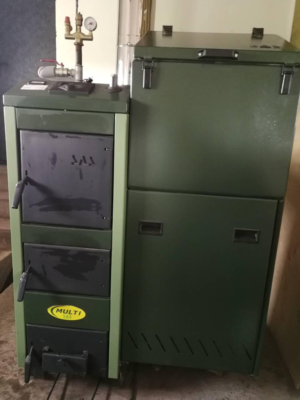 Твердотопливный котел SAS BIO Multi 17 с автоматикой Б/У