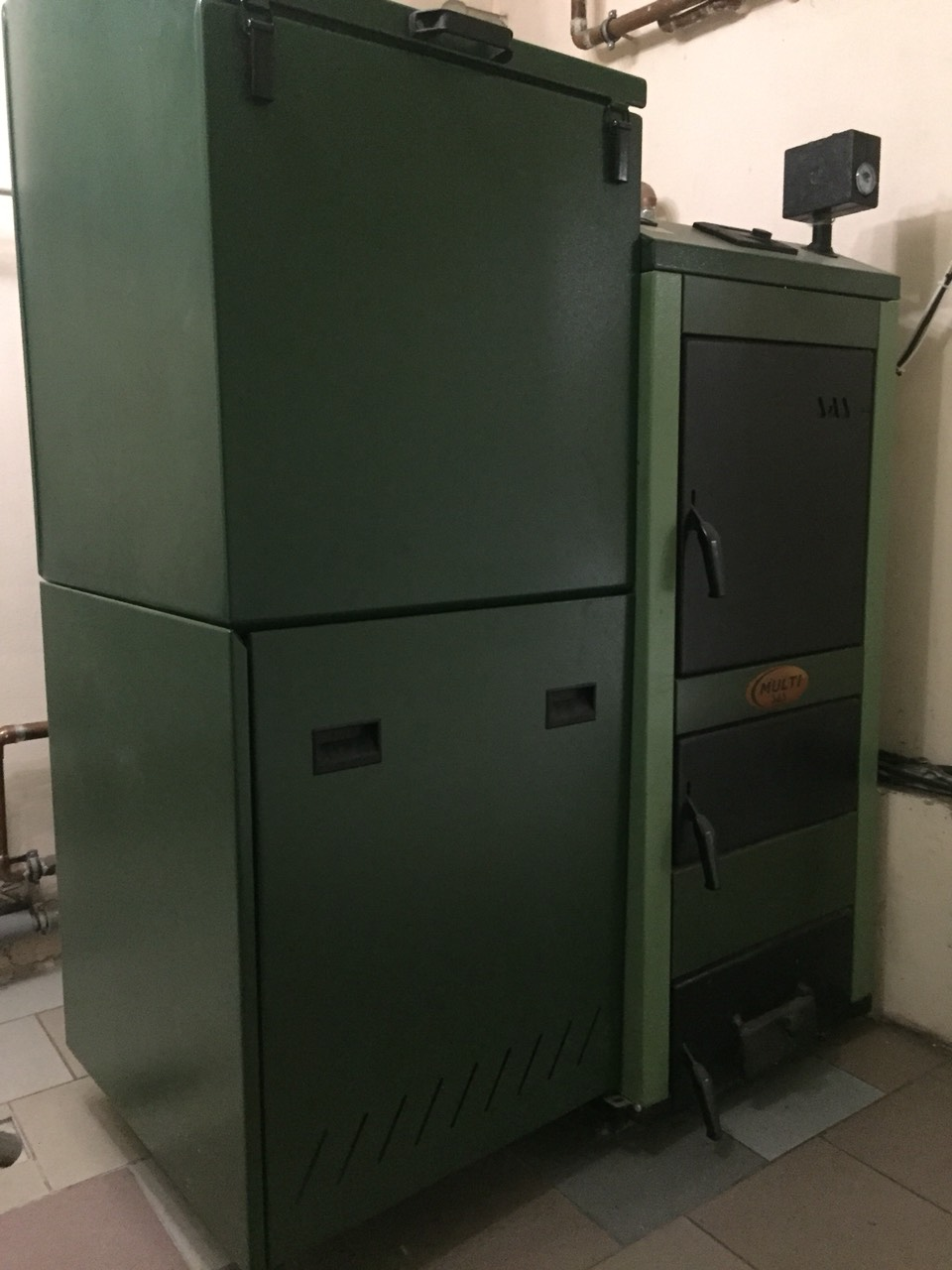 б/у Пеллетный котел SAS Multi 48 кВт