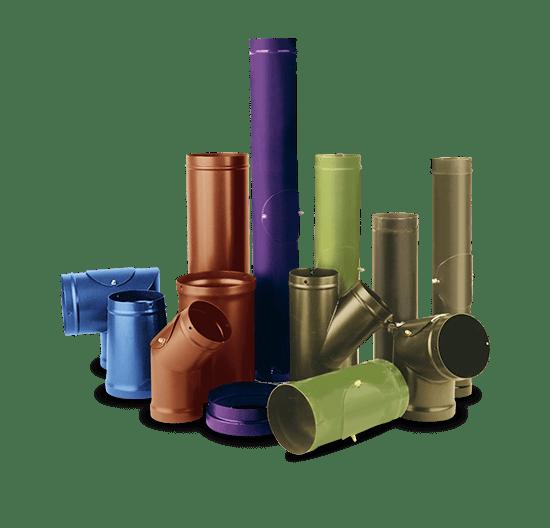 Цветные трубы для дымохода