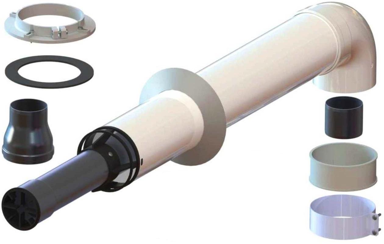 Трубы и комплекты Коаксиальный дымоход для газового котла