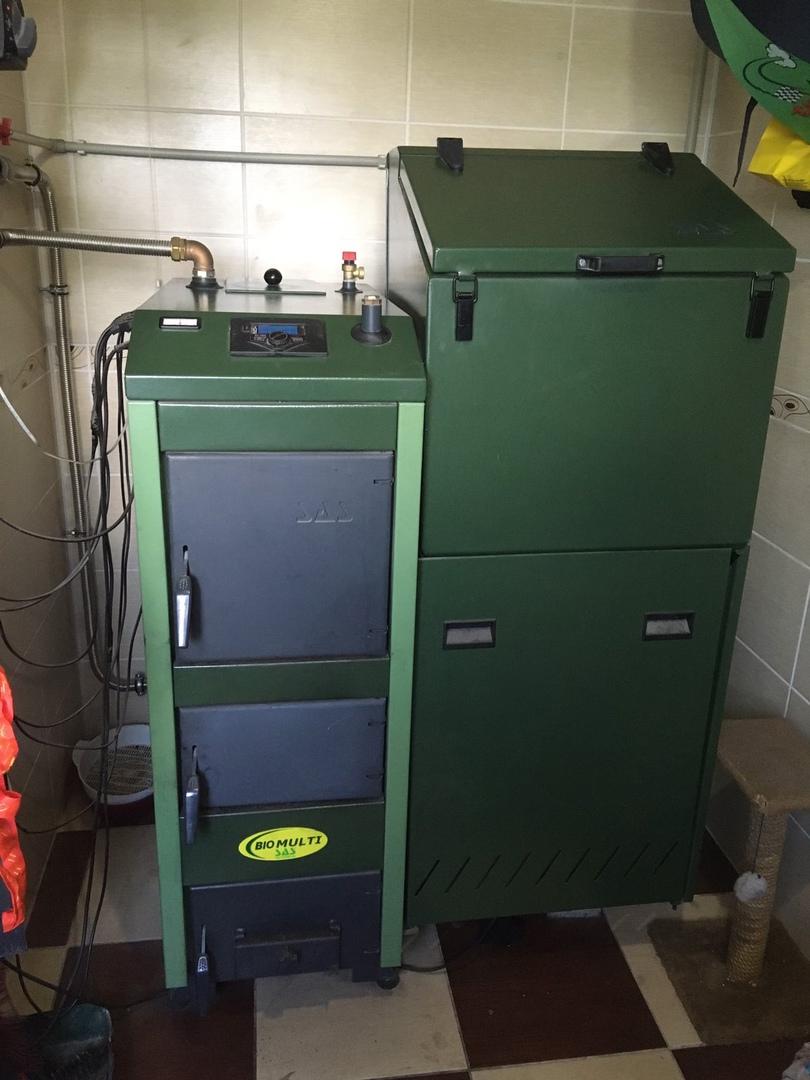 Пеллетный котел SAS Bio Multi 17 кВт с автоматикой Б/У